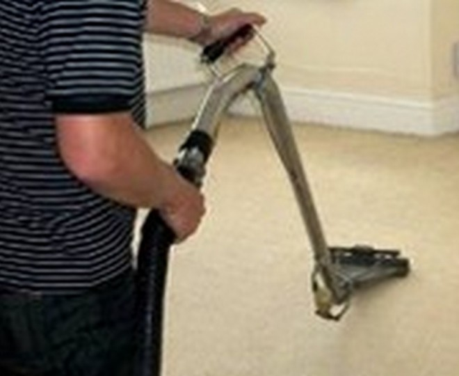 Cleaning living room carpet