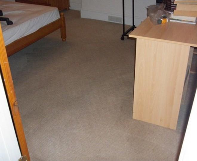 A brown bedroom carpet